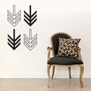 Geometric Arrows Wall Decal