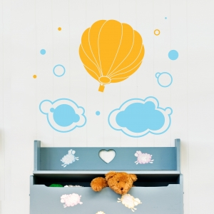 Hot Air Balloon Wall Art Decal