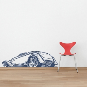 Hot rod roadster wall decal