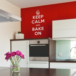 Keep Calm and bake on wall decal