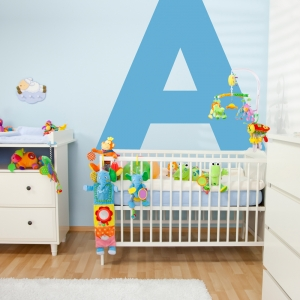 Large Letter Wall Decal