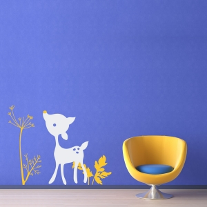 Lit'l Deer in Nature Wall Art Decal