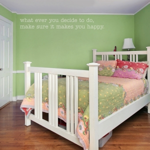 Make Sure It Makes You Happy Wall Quote Decal