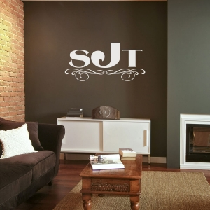French roman wall decal
