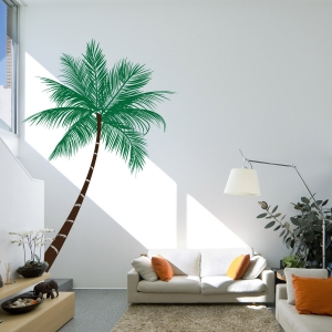 Tropical palm tree wall decal & Tropical Wall Decals | Peel and Stick Wall Art | Wallums