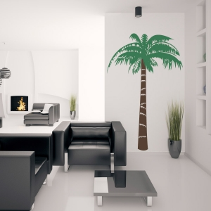 Tropical palm tree wall decal