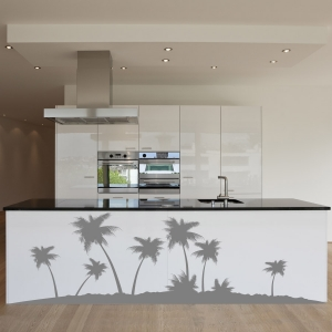 Island Tropical palm tree wall decal