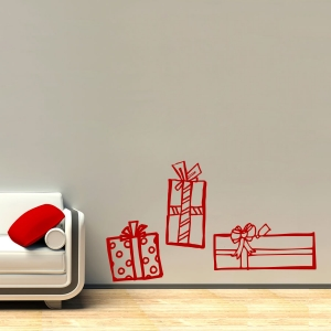 Christmas presents wall decal