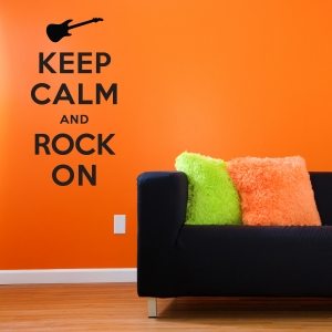 Keep calm and rock on wall decal