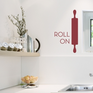 Roll On - Rolling Pin - Wall Decal