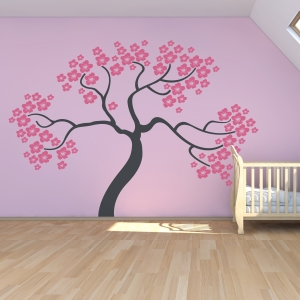 Sakura Cherry Tree Wall Art Decal