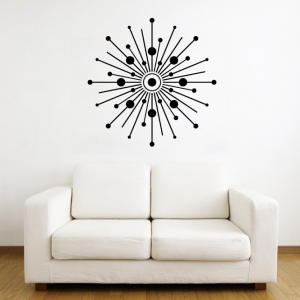 Starburst Circles wall decal