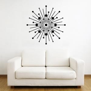 Starburst Circles wall decal