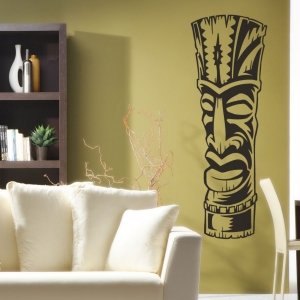 Tiki totem wall decal