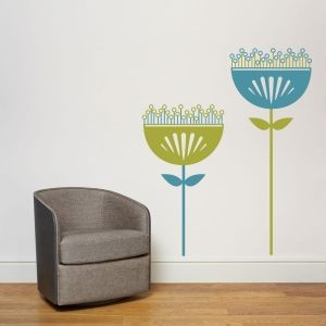 Venus flower wall decal