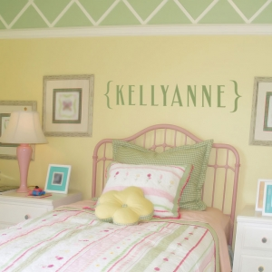 Custom Name in Brackets Wall Decal