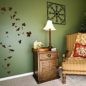 Falling leaves tree wall decal