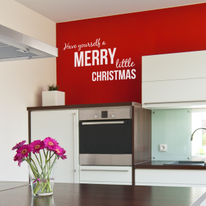 Have yourself a merry little christmas wall decal