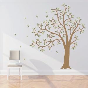 Wavy Tree Wall Decal