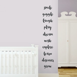 Childhood Verbs Wall Quote Decal
