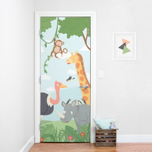 Jungle Door Mural