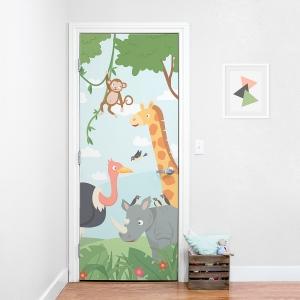 Jungle Door Mural