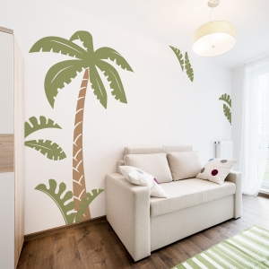 Jungle Palm Scene Wall Decal