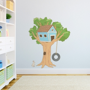 Kids Tree House Printed Wall Decal