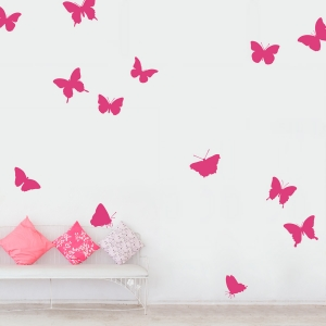 Large Butterfly Collection Wall Decal