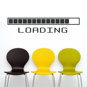 Loading wall decal
