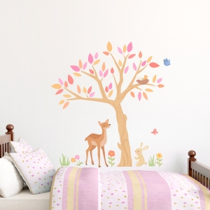 Sweet Spring Tree Printed Wall Decal
