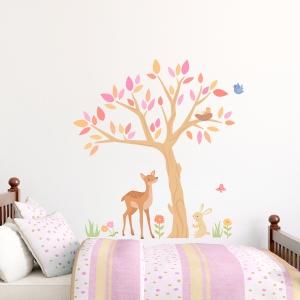Sweet Spring Tree Printed Wall Decal