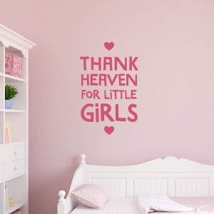 Thank Little Girls Wall Quote Decal