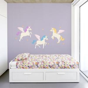 Unicorn Trio Printed Wall Decal