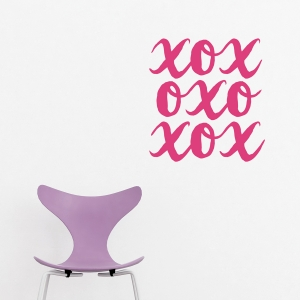 XOXO Wall Quote Decal