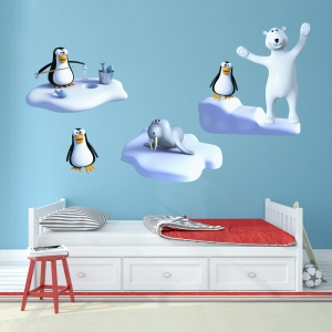 3D Ice Adventure Wall Decal