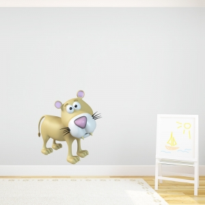 3D Lioness Printed Wall Decal