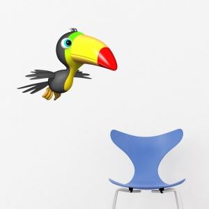 3D Toucan Printed Wall Decal