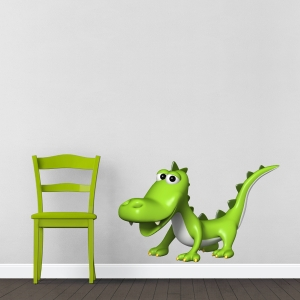 3D Crocodile Wall Decal