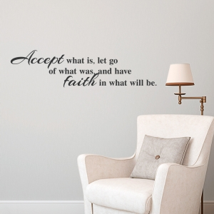 Accept Faith Wall Art Decal