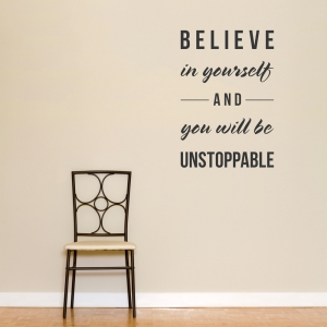 Believe in Yourself Wall Art Decal