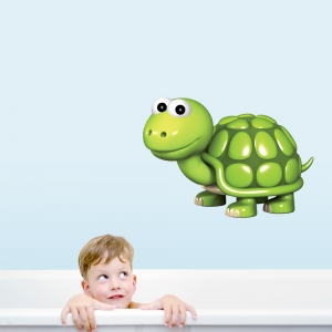 3D Turtle Printed Wall Decal