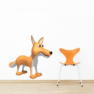3D Fox Printed Wall Decal