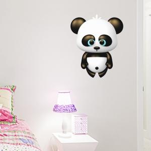 3D Panda Bear Printed Wall Decal