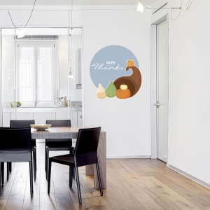 Cornucopia Printed Wall Decal