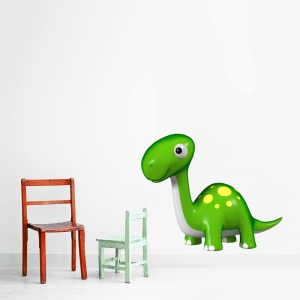 3D Baby Dinosaur Printed Wall Decal