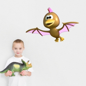 3D Pterodactyl Dinosaur Printed Wall Decal