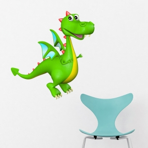 3D Dragon Boy Wall Decal