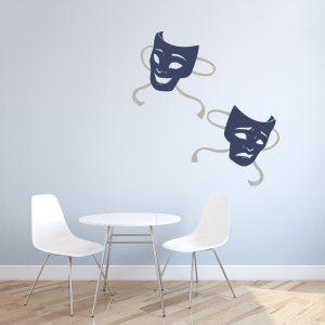 Drama Masks Wall Decal