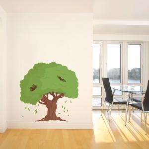 Mushroom Tree House Printed Wall Decal